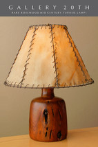 """RARE & EPIC! ALEXANDRE NOLL ARTS & CRAFTS ROSEWOOD """"WORM"""" LAMP! VTG ONE OFF - $3,500.00"""