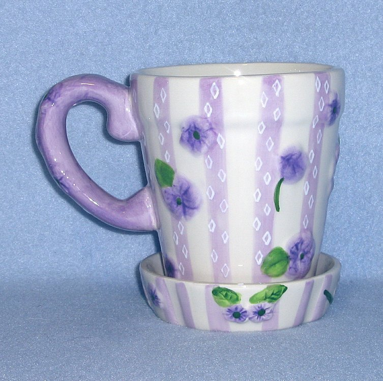Lady Jayne Ltd Violets Mug w/Coaster Gift Set 2003 #9778Q
