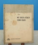 VINTAGE ASSEMBLY INSTRUCTION MASSEY-FERGUSON CORN HEADS AGRICULTURE MACH... - $10.40