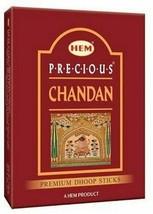 Hem Precious Chandan Premium Dhoop Sticks 75 g Pack of Incense Sticks Me... - $9.49