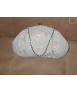 Vintage 1950's Pastel Micro-Beaded Evening Purse made in Paris - $67.32