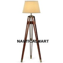 Nauticalmart Brass Finish Tripod Floor Lamp Stand With Shade - $375.21