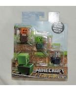 Nouveau Minecraft Minecarts Paquet de 3 Voitures Neige Golem Creeper Loup - $9.87