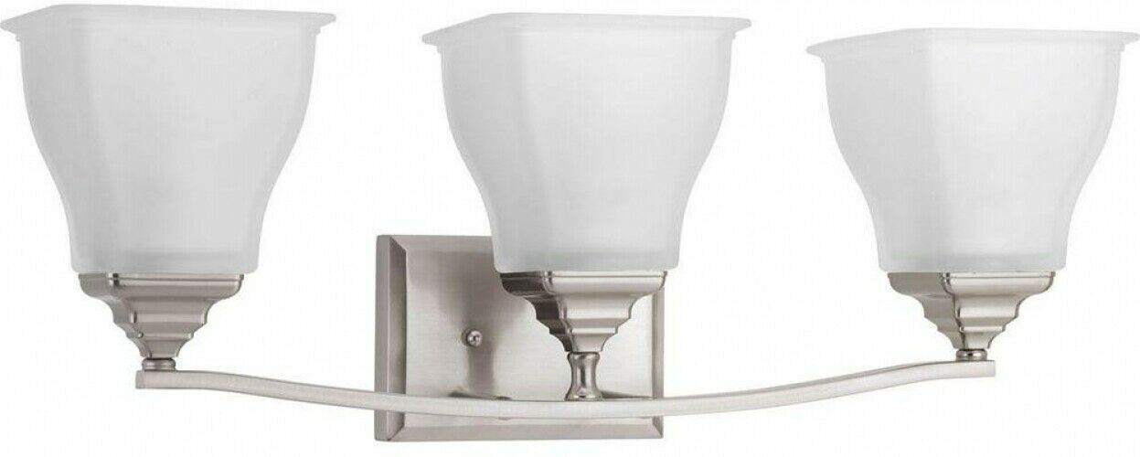 Progress Lighting Bathroom Vanity With Glass Shades 3