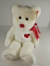 TY Beanie Buddies - Valentino the Bear (5rd Gen Hang Tag - MWMTs) - $3.99