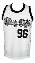 Tupac Shakur #96 Thug Life Custom Basketball Jersey New Sewn White Any Size image 1