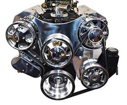 A-Team Performance Small Block Serpentine Front Drive System Complete With Brack
