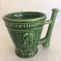Schering Rx Galen 131-201 AD Coffee Tea Mug Cup Green Mortar Pestle Cera... - $26.17