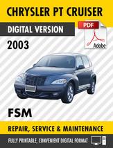 2003 Chrysler PT Cruiser Factory Repair Service Manual - $9.90