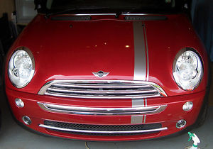 """Red 12/"""" X 60/""""  Vinyl Windshield Banner Decal Racing Rally Striping  Sticker"""