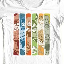 Justice League T-shirt super hero distressed white cotton tee DC comics DCO109 image 1