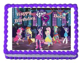 MY LITTLE PONY Equestria Girls edible cake topper decoration cake image ... - $7.80