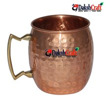 Handmade Pure Copper Hammered Moscow Mule Mug by DakshCraft - $11.39