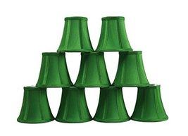 Urbanest Set of 9 Kelly Green Silk Bell Chandelier Lamp Shade, 3-inch by... - $48.51
