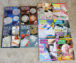 MAGIC CROCHET - Lot of 10 Vintage Issues #'s 10-21-2923-52-61-66-79-83-89 - $40.00