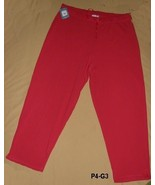 ProSpirit  Womens Plus Sz 3X Red Sweatpants NWT - $14.99