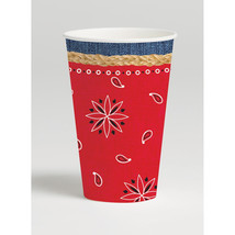 12 oz Hot/Cold Paper Cups Bandanarama/Case of 96 - $54.94