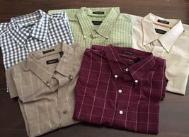 lot of 5 Van Heusen Men's Long Sleeve Dress Shirt Sz 16 16-1/2 L Large p... - $46.75