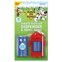Bags on Board Fire Hydrant Dispenser and Pick-up Bags 30 bags Red - $6.99