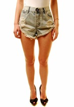 One Teaspoon Women's Beauty Bandits Shorts Blue Size 27 RRP$107 BCF611 - $55.68