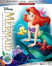 Disney Little Mermaid Anniversary Edition (Blu-ray + DVD + Digital, 2019)