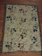 Disney Parks Mickey Mouse Afghan Blanket Throw 45x60 USA - $39.59