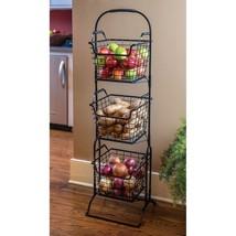 Farmer's Square 3-Tier Basket Floor Stand Decor... - $42.90
