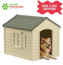 Suncast Deluxe Outdoor Dog House with Door - $58.99