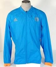 Adidas Running Boston Marathon 2014 Blue Reflective Zip Wind Jacket Men'... - $74.99
