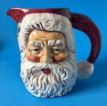 Santa Claus Christmas Pitcher Fib Burton and Burton Bogart GA Porcelain ... - $24.95