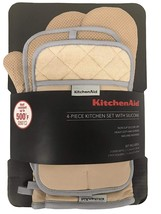 Kitchenaid 4 Stück Küche Set mit / Silikon 2 Topflappen Handschuhe, 2 (B... - $24.73