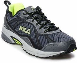 FILA Windshift 15 Men's Running Shoes Grey Yellow, Several  Sizes - $43.99