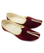 F-3 Red Velvet Royal Look Traditinol Khussa Shoe/Juti/Mojari MENS Usa Si... - $22.77