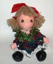 "Vintage DOLL Precious Moments ""Holly"" 1987 Christmas DECOR  Applause - $25.00"