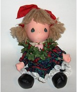"Vintage DOLL Precious Moments ""Holly"" 1987 Christmas DECOR  Applause - $25.00"