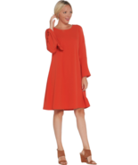 Laurie Felt Medium Bell Sleeve Dress Red M  - $17.59