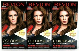 3 Boxes Revlon Luxurious Colorsilk Buttercream 731 Dark Beige Blonde Hai... - $26.62