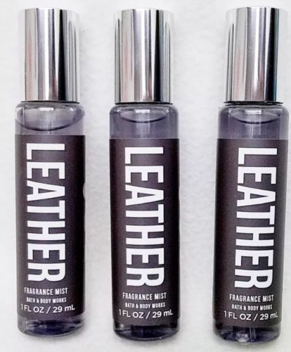 Bath & Body Works Cuir Mini Parfum Pulvérisateur Brume 1 Fl oz Neuf ~ Lot Of 3