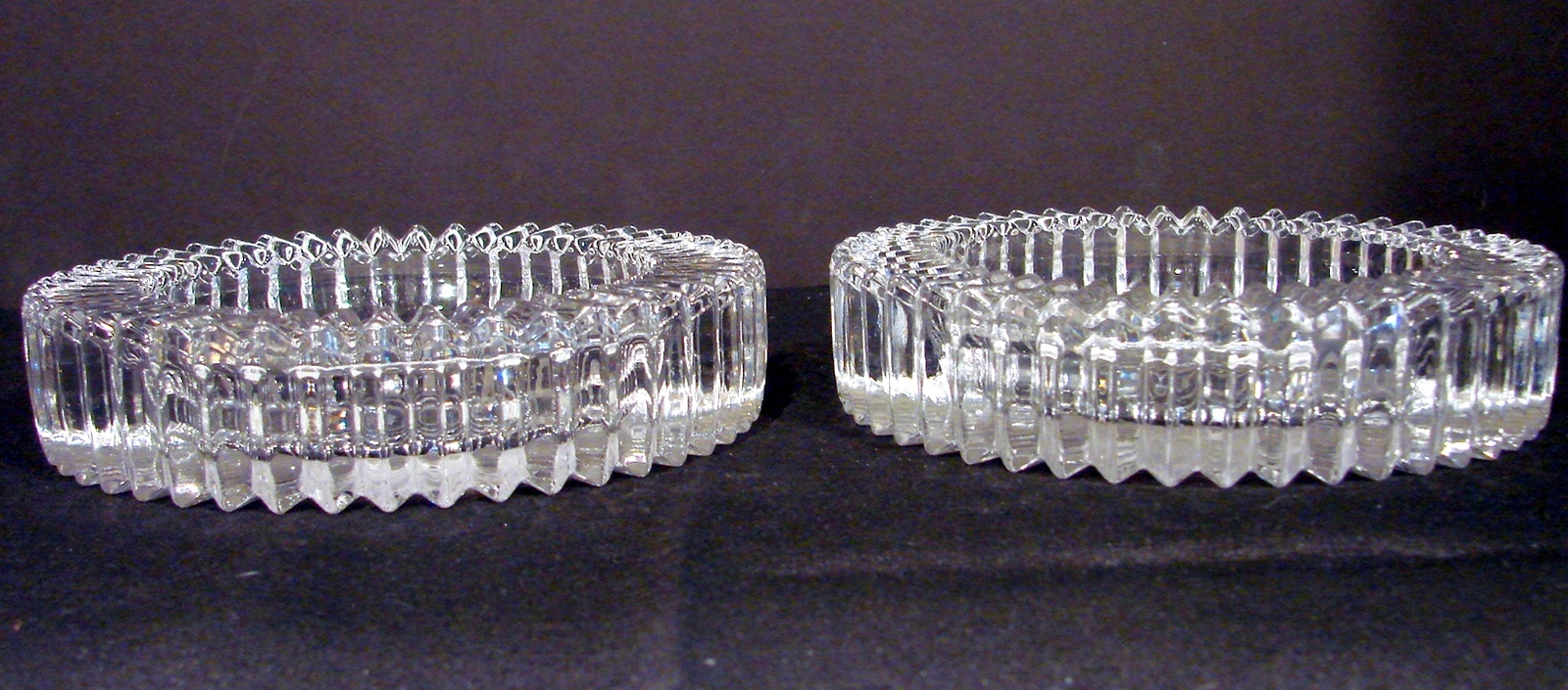 Matching Pair of Crystal Wine Coasters Diamond Fire by Mikasa