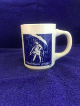 "Vintage Morton Salt Umbrella Girl Coffee Mug 1921 ""When it Rains, It Pours"" - $11.99"