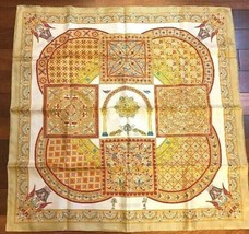 Hermes Carre 90 Scarf Stole CIELS BYZANTINS by J ABadie Silk Auth New Un... - $453.16