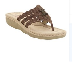 Earth Spirit Women's Tobi Sandal Dark Brown/Bark Size 9.5 - $26.91
