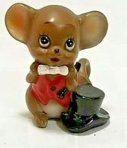 Josef Originals Village Porcelain Figurine BAND CONDUCTOR MOUSE Magician... - $16.20