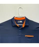 Callaway Opti-Dri Men's Golf Polo Navy Blue Orange Large - $27.69