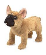 Folkmanis French Bulldog Hand Puppet Plush, Light Brown/Dark Brown, 1 EA - $26.99