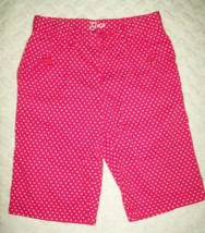 Gap Kids Girls Shorts Sz 14 Regular Pink White Polka Dot Long Leg Spring... - $17.59