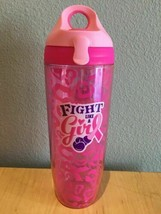 BREAST CANCER AWARENESS PINK RIBBON MOTIVATION WATER BOTTLE THERMO, BPA ... - $9.75