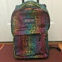 Jansport Rainbow Animal Print Rolling Backpack Wheeled Travel Bag - $149.99