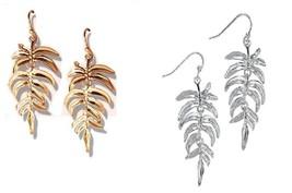 Avon Palm leaf dangling earrings - $14.00