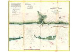 St. George Sound Florida Panhandle; Antique Map; USCS Chart, 1859 - $26.72+